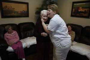 Elder Patient Care Hugging