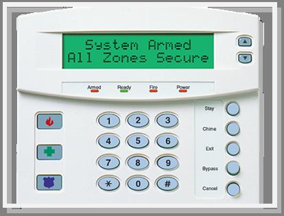 Burglar alarm keypad for security system