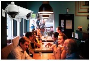 restaurant security camera installation